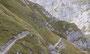 der ausgesetzte Weg nach der Bergstation der Seilbahn