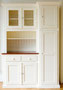Küchenbuffet nach Maß. Mit großem Schrank an der rechten und/oder linken Seite (oder ohne).  Auf diesem Bild mit Kirschholztop.