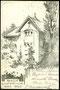 vor 1920, Haus Akazie, Friedenstrasse, Kunstkarte