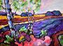Landschaft bei Soltau III     Technik: Acryl auf Leinwand  60 x 80