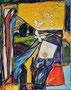 Schmetterlinge in der Heide     Technik: Acryl auf Leinwand  100 x 80