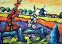 Landschaft bei Soltau II     Technik: Acryl auf Leinwand  60 x 80