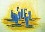 Kerzenlicht-Farbenspiel / 40x30cm