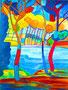 expressionistischer Farbenrausch / 24x34cm