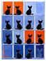 Katzenpaare / 28x38cm
