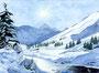 Winter in den Bergen / 37x27cm