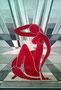 Rote Lady (nach Matisse) / 26x37cm