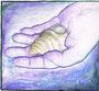 Muschel in meiner Hand / 15,5x14cm