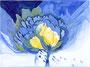 Blaue Blüte / 38x28cm