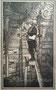 Der Bücherwurm (nach Spitzweg) - Tuschezeichnung / 10x17cm