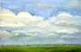 Wolkenhimmel am Niederrhein / 45,5x30,5cm