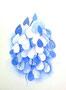 abstrakte Spielerei 1 in Blau / 30x40cm