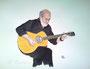guitar-hero 2012 / aquarellierte Tuschezeichnung / 40x30cm