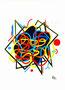 abstrakte Spielerei Nr.3 / 22,9x30,5cm