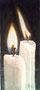 Zwei Kerzen / 8x17cm