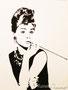 Audrey Hepburn / Tuschezeichnung 20x30cm (n. Foto v. pixabay)