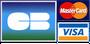Paiement par carte de crédit Visa, Mastercard.