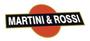 martini & rossi logo adesivo