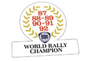 world rally champion sticker adesivo