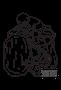 【無料ぬりえ用線画イラスト】二次創作(デジタル練習用イラスト)/自分自身をしまっちゃうおじさん(ぼのぼの)