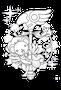 【無料ぬりえ用線画イラスト】二次創作(デジタル練習用イラスト)/カードキャプターケルベロス(カードキャプターさくら)