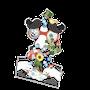 恵みの鼻水スマホスタンド(鳥 猫 動物 花 植物 向日葵 朝顔 夏 カオス シュール bird cat animal flower plant sunflower morning_glory summer chaos art)