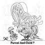 【無料ぬりえ用線画イラスト】PARENT AND CHILD?(remake)