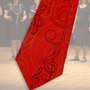 17.) Krawatte mit Notenschlüssel rot - Feld Textil GmbH aus Krefeld - https://www.krawatten-tuecher-schals-werbetextilien.de/
