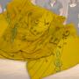 20.) Musikschal mit Notenschlüssel gelb - Feld Textil GmbH aus Krefeld - https://www.krawatten-tuecher-schals-werbetextilien.de/