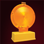 "Lámpara Destello Dos Caras (LD2-CH) / Lámpara intermitente de seguridad vial. Luz de leds ámbar. Botón de encendido. Encendido automático al oscurecer. Funciona con 4 pilas tipo ""D"". (incluidas). Medidas: Altura 27.5 cm., Largo 16.5 cm., Ancho 8.o cm."