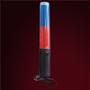 """Bastón Bicolor (250RG-BAA) / Rojo y azul intermitente. Rojo y azul fijo. Linterna de leds blanca. Mango magnético. Cinta para muńeca. Utiliza tres baterías tipo """"AA"""" (incluidas). Medidas: 26.0 cm. de largo."""