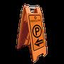 Muy útil para indicar, orientar o publicitar • No rayan en suelo, ni provocan accidentes graves  • Pueden llenarse de agua para aumentar su peso hasta 3 veces  • Medidas ancho 33.0 cm., Alto 91.0 cm., espesor 7.5 cm.