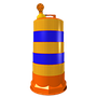 • Fabricado en polietileno de alta densidad. • Color naranja ' • Con o sin reflejante grado ingeniería o alta intensidad (2 o 5 franjas) '• Con base desmontable ' • Medidas: Diámetro superior 43.0 cm., altura 118.0 cm. • Lampara 7 destellos opcional