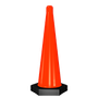• Cono de alto rendimiento resistente a los rayos UV  • El peso de la base lo hacen resistente a fuertes vientos  • Color naranja tránsito, base en negro  • Medidas: Base hexagonal de 18.0 cm por lado, Alto 75.0 cm