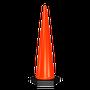 • Cono de alto rendimiento resistente a los rayos UV  • Gran visibilidad por su altura  • Base pesada para mayor estabilidad  • Color naranja tránsito, base en negro  • Medidas: Ancho de la base hexagonal 18.0 cm., por lado, Alto 100.0 cm