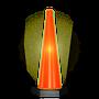 •Intermitente o fijo •Para mayor visibilidad nocturna •Cono electrónico con apagador •Encendido automático •Baterias intercambiables incluidas, rendimiento de 2 años aprox. (12 hrs. diarias)  •Medidas: Base hexagonal de 18.0 cm por lado Alto 75.0