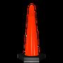 • Cono de alto rendimiento resistente a los rayos UV  • Uso inigualable en estacionamientos y fábricas  • Color naranja tránsito, base en negro  • Medidas: Base hexagonal de 18.0 cm por lado, Alto 60.0 cm