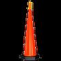 •Intermitente o fijo *electrónico con apagador •Encendido automático •Incluye capuchón luminoso •Color naranja tránsito  •Baterias intercambiables incluidas, rendimiento de 2 años aprox. (12 hrs. diarias) •Medidas: Ancho de la base 34cm., Alto 115cm