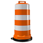 • Base muy pesada, gran resistencia al viento • Color naranja • Con o sin reflejante grado ingeniería o alta intensidad (2 o 5 franjas) • Con base desmontable •Medidas: Diámetro de base 68 cm., diámetro superior 43cm., altura 118cm.
