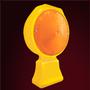 Lámpara de Destello (LD) / Lámpara intermitente de seguridad vial. Fabricada en polietileno. Enciende automáticamente al oscurecer. Luz color ámbar. Baterías incluidas. Medidas: Largo: 30.0 cm, Ancho: 19.0 cm, Base: 12.0 x 6.0 cm.