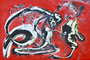 """""""SACRIFICE"""" - Acryl auf Dibond - 150x100 - 014BS"""