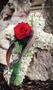 kleines Kreuz aus Islandmoos als persönlicher Abschiedsgruß, sehr lange haltbar / SMITHERS-OASIS Company Floral Foam. All rights reserved.
