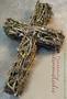 Kreuz aus Flechtenzweigen, lange haltbar