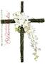 Schachtelhalm Kreuz mit Blumengesteck