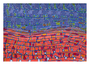 45: OLA KA'AINA - Das Land lebt / 2016 / Acryl und Filzstift auf Papierkarton / 100x70 - Original: CHF 2000