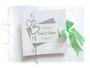 Foto-Gästebuch zur Silberhochzeit - Buchblock aus individuell bedruckten Seiten, z.B. mit heiteren Fragen an Ihre Gäste. Freie Auswahl in Form, Farben und Gestaltung.