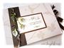 Personalisiertes Hochzeitsalbum im Querformat 35cm x 25cm, mit 50 Blatt, in den Farben elfenbein, kupfer und grün. VIELEN DANK an ڿڰ✿ T.A. aus L.