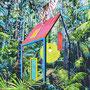 Die Hütte/ 2020/ oil on canvas/ 200 x 150cm