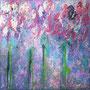 Flower love II, Acryl auf Leinwand, 20x20x2 cm, 2020, 90 €