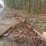 Abgefallene Holzplanken